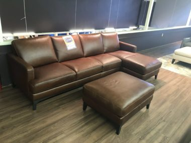 B970 Nostalgia Natuzzi Sectional and Ottoman