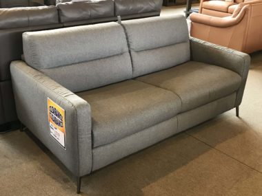 C008 Grey Fabric Natuzzi Queen Sleeper