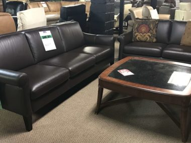 C060 Dolcezza Dark Chocolate Sofa and Loveseat