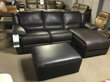 Natuzzi A319 chocolate Sectional